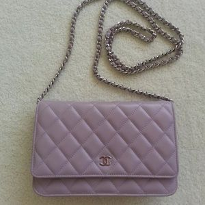 Authentic small chanel quilted wallet